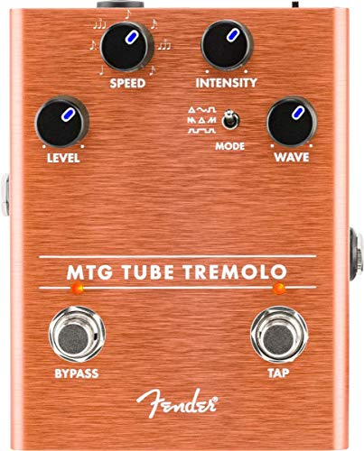 Fender MTG Tube Tremolo Effect Pedal with NOS 6205 Micro-Tube