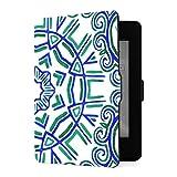 Funda Kindle Paperwhite 1 2 3, Embroidery Traditions Peru Aztecs Maya Geometric PU Funda de Cuero con Smart Auto Wake Sleep para Amazon Kindle Paperwhite (para Versiones 2012,2013,2015