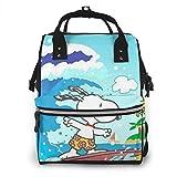 Bolsa de pañales - Bolsa de pañales con diseño de Snoopy para mamá, multifunción, gran capacidad, mochila de viaje