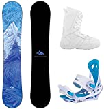 System 2020 Juno and Mystic Complete Women's Snowboard Package (149 cm, Boot Size 7)