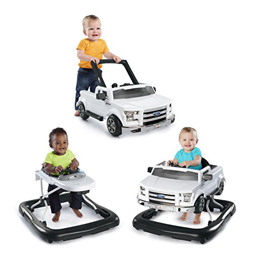 Bright Starts 3 Ways to Play Walker - Ford F-150, White, Ages 6 months +