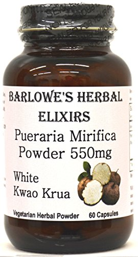 Pueraria Mirifica - 60 550mg VegiCaps - Stearate Free, Bottled in Glass! Free Shipping on Orders Over $49!