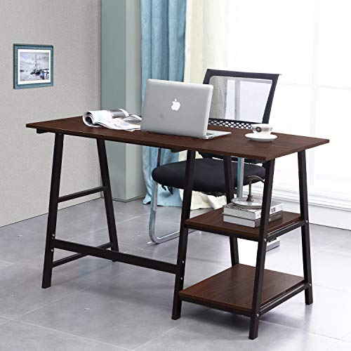soges 47 inches Computer Workstaion Desk with Two Open Shelves...