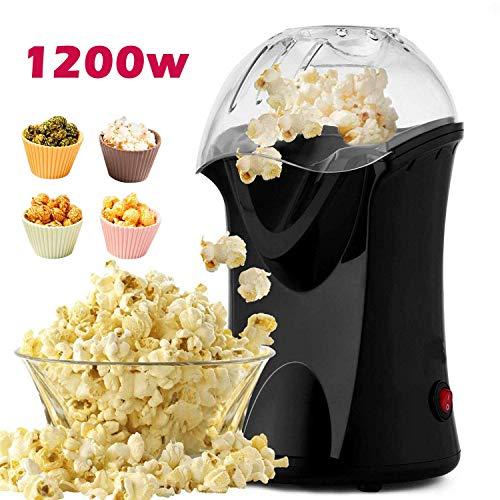 Professionelle Meykey Popcornmaschine für Zuhause zum selber machen, 1200W Heißluft Popcorn Maker, Öl ist nicht notwendig, Weites-Kaliber-Design mit Messbecher und abnehmbarem Deckel