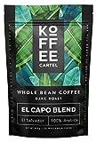 Whole Bean Coffee Dark Roast - Single Origin Coffee Beans - 100% Arabica Strong Espresso Coffee - El Capo 1lb Bag