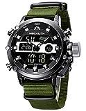 MEGALITH Montre Homme Militaire Digitale Montres Sport Etanche LED Grand Cadran Montre Bracelet...