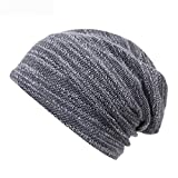 Liaiqing Los hombres y las mujeres caen e invierno a prueba de viento y la moda cálida se preocupan por los sombreros, correr, escalar, al aire libre cómodo protección de oreja sombreros de punto somb