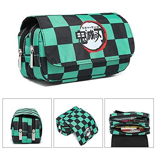 Ysimee Astuccio scuola giapponese Grande capacit con 2 grandi borse principali e 1 borsa laterale, astuccio impermeabile per studenti, ragazzo e ragazza, cancelleria per la scuola