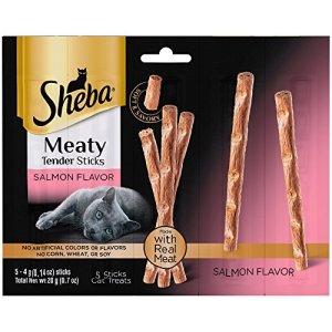 6 Bags of Sheba Meaty Tender Sticks Salmon Flavor