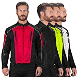 Viking Cycle Textile Warlock Biker Mesh Motorcycle CE Armor Jacket for Men Red