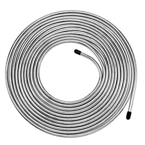 25 ft 3/16' Zinc-Coated Brake Line Tubing Kit - Muhize Steel Tube Roll 25 Ft. of 3/16