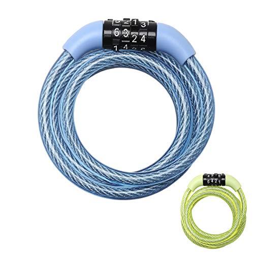MASTER LOCK Cable Antivol Vélo [1,2 m Câble] [Combinaison] [Extérieur] [Couleur Aléatoire] 8143EURDPROCOL - Idéal pour Vélo, Vélo Electrique, Skateboard, Poussettes, Tondeuses et autres Equipements