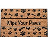 Ninamar Door Mat Wipe Your Paws Natural Coir – 29.5 x 17.5 inch