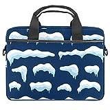 Snow Ice - Funda para ordenador portátil de 14 a 15,6 pulgadas, con correa para el hombro, ampliable, con bolsillo para tableta, para hombres y mujeres, para viajes y escuelas