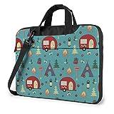 15.6″Durable Hombro Mensajero Bolsa maletín PC Patrón de Campamento Moda Impermeable Ordenador Portátil/portátil/Tablets
