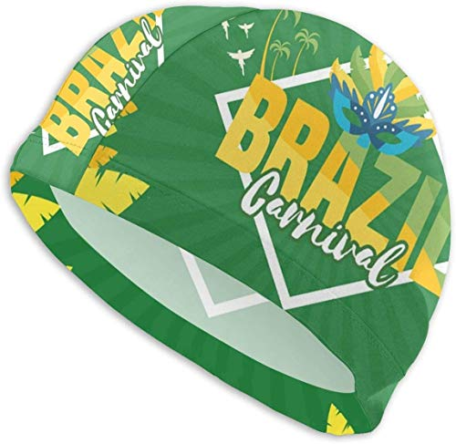 winterwang Cuffia da Nuoto per Carnevale Brasiliano per Uomo, Donna, Adulto, Design ergonomico 3D