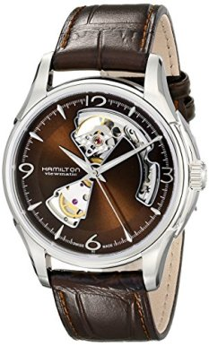 Hamilton Men's H32565595 Open Heart Marron Open Dial Watch