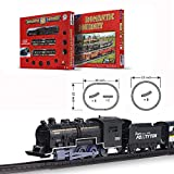FENFA Mini Electric Train Toys for Boys and Girls Battery Operated Small Classic Train Track Set for Children Christmas Birthday Gift for Kids 1638-3D