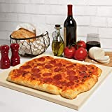 CucinaPro Pizza Stone for Oven, Grill, BBQ- Rectangular Pizza Baking Stone- XL 16' x 14' Pan for Perfect Crispy Crust- Extra Thick 5/8'