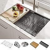 Kraus KWU110-30 Kore Kitchen Single Bowl, 30 Inch, 30'- Workstation Sink