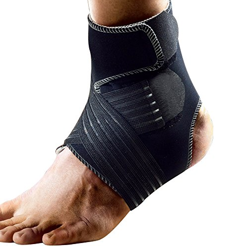 Dr.qiiwi Ankle Brace Compression Ankle Support Foot Stabilizer with Breathable Ankle Sleeve and Adjustable Straps for Sports Protection, Injury Recovery, Reduce Swelling, Ankle Strain & Sprains M