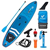 """Freein Inflatable SUP Stand Up Paddle Board Inflatable Fishing iSUP 11'6""""x33 x6 Blue Package - Fiber Paddle, Camera Mount, Dual Action Pump, Leash, Adaptor, Backpack"""