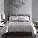 Riverbrook Home Turin Comforter Set, King, 7-Piece, Silver