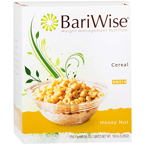 BariWise Low-Carb High Protein Diet Cereal - 15g Protein Per Serving - Sugar Free Honey Nut Flavored Cereal - (5 Count)