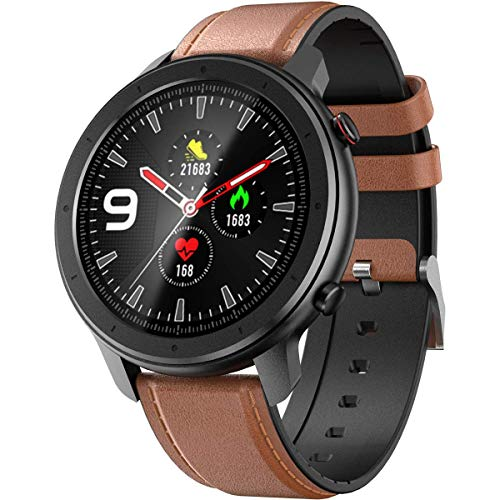 Smart Watch for Android and iOS Phone Smartwatch IP68 Waterproof,Buletooth5.0 Fitness Activity Tracker with Heart Rate Blood Pressure Oxygen SpO2 Monitor Step Sleep Tracker Message Reminder,Men Women