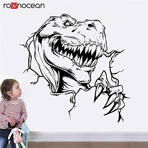 jiushivr Adesivi murali Bosco Dinosauro Fantasia Horror Animale Parete Stile Nordico Decorazione...