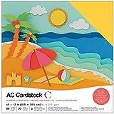 American Crafts 376988Papier cartonné Lot de différents d'été 60Feuilles...