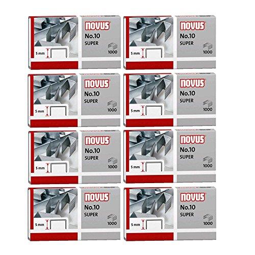Novus-Punti per cucitrice NOVUS 24/6DIN Super, 24/6, in filo d' acciaio zincato, Nr. 10