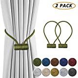DCLYSI 2 Pack Magnetic Curtain Tiebacks,16 Inch Decorative Curtain Holdbacks for Window Décor