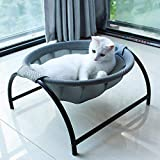 JUNSPOW Cat Bed Dog Bed Pet Hammock Bed Free-Standing Cat Sleeping Cat Bed Cat Supplies Pet Supplies Whole Wash Stable Structure Detachable Excellent Breathability Easy Assembly Indoors Outdoors