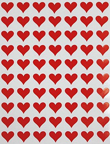 Royal Green Heart Red Sticker for Envelopes 1/2
