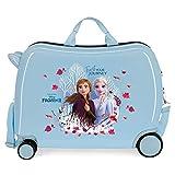 Disney Frozen Trust your journey Maleta Infantil Azul 50x38x20 cms Rígida ABS Cierre combinación 38L 2,1Kgs 4 Ruedas Equipaje de Mano
