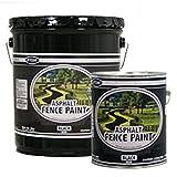 Premium Grade Asphalt Fence Paint - Black (Five Gallon)