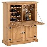 IDIMEX Meuble Bar à vin Tequila Armoire comptoir avec Range Bouteilles vin...
