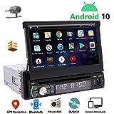 EINCAR Autoradio 1 Din GPS Bluetooth-Android 10 avec Ecran Retractable...