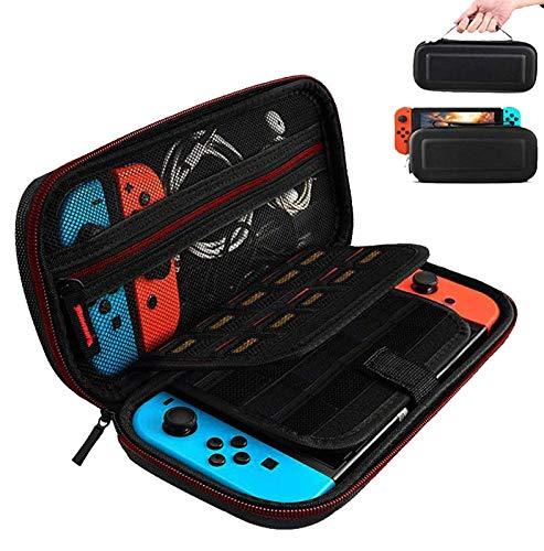 Custodia per Nintendo Switch,Case Rigido da Viaggio Versione Aggiornata Custodia con più Spazio per 19 Cartucce, Caricabatteria Originale e altri Accessori per Nintendo Switch