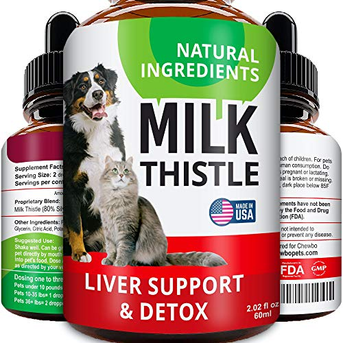 Liver Support Supplement for Dogs & Cats - Milk...
