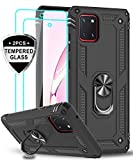 LeYi Coque pour Samsung Galaxy Note 10 Lite/ A81 [2 × Verre Trempé] Anneau...