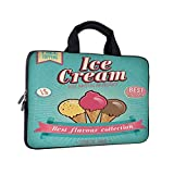 13' Printed Laptop Bag,Ice Cream Best Laptop Cover Compatible with MacBook Air