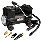 BriggsStratton Tire Inflator Portable Air Compressor Pump with Digital Pressure Gauge Auto Air Pump 120 PSI 12V DC with LED Light 4 Nozzle Adaptors for Car Tires Bicycle Motorcycle Ball BS-IN310DC
