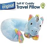 Cloudz Plush Animal Kids Travel Neck Pillow - Unicorn
