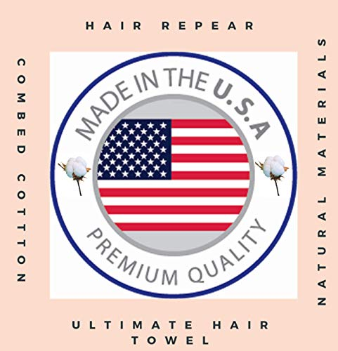 Hair RePear Ultimate Hair Towel for Long Hair - Anti Frizz Premium Cotton Product to Enhance Healthy Natural Hair Perfect for Plopping Wrapping Scrunching Straight Wavy or Curly Hair -21x44in Black 2