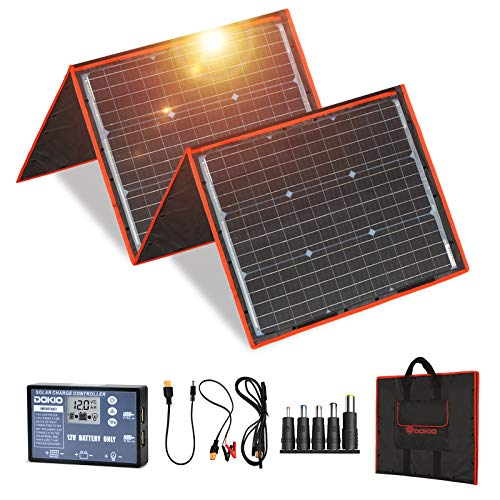 DOKIO 150 watts Solar Panel Kit Portable Folding Monocrystalline...
