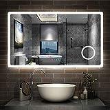 Aica Miroir de Salle de Bain 120cmx70cm avec LED Couleur et luminosité...