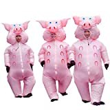 Inflatable Pig Costume Thanksgiving Day Gifts Christmas Costumes Fancy Dress Masquerade Funny Cosplay Party Clothes for Adult (1pcs)