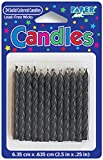 Creative Converting 10131 Solid Candle, 2.5', Black